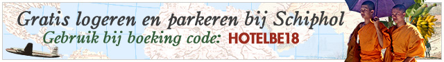 Gratis logeren en parkeren bij Schiphol. Gebruik bij boeking code: HOTELBE18.