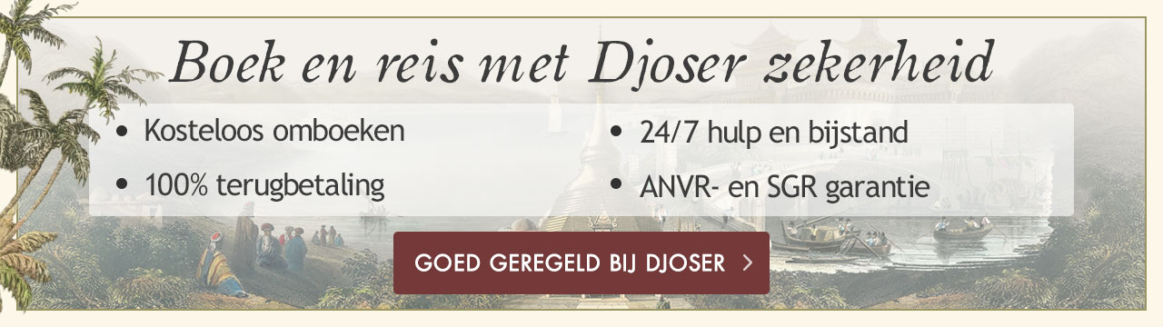 Boek en reis met Djoser zekerheid