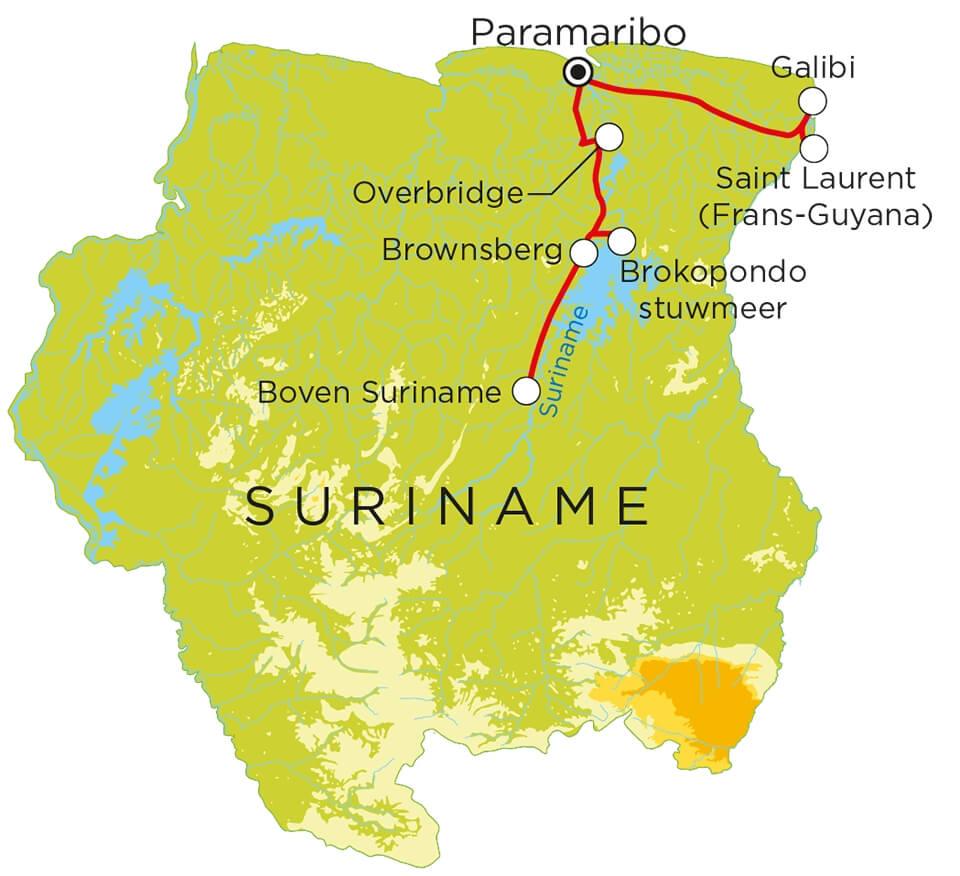 Routekaart Suriname, 19 dagen
