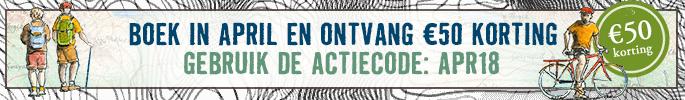 Boek in april en ontvang €50 korting. Gebruik de actiecode APR18.