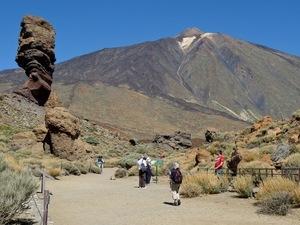Uitzicht op de top van El Teide-vulkaan