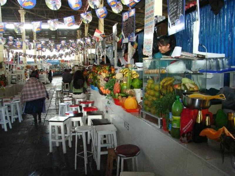 De markt van Cusco