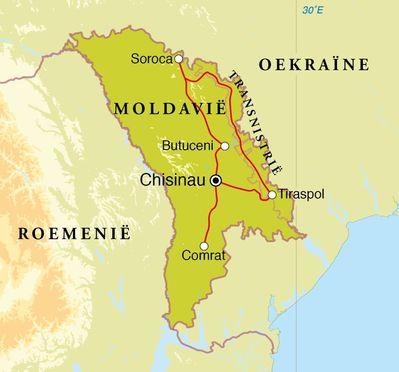 Routekaart Rondreis Moldavië & Transnistrië, 8 dagen