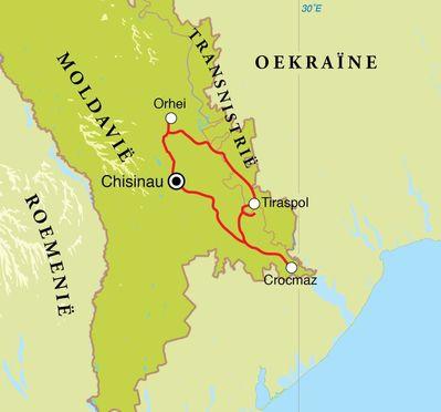 Routekaart Wijnreis Moldavië, 8 dagen