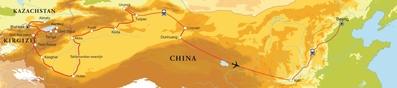 Routekaart Zijderoute, 27 dagen