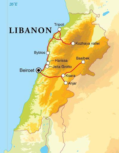 Routekaart Culinair Libanon, 6 dagen