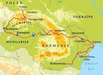Routekaart Rondreis Centraal Europa, 21 dagen