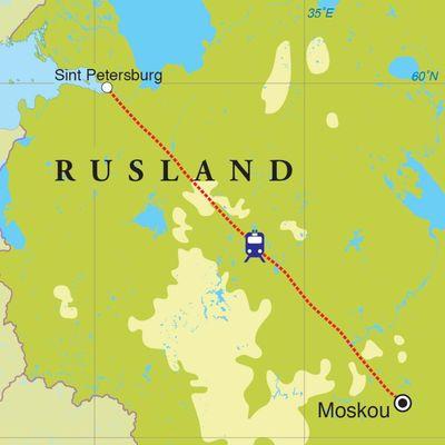 Routekaart Rondreis Rusland, 8 dagen