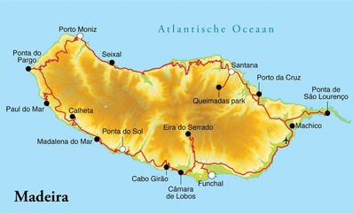 Routekaart Rondreis Madeira, 8 dagen