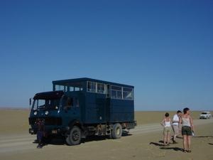 Skeleton Coast - truck onderweg