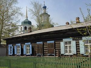 Houten huis Irkutsk