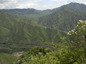 Chineese muur uitzicht