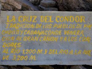 Uitkijkpunt Cruz del Condor