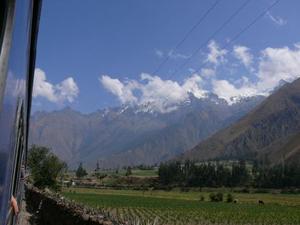 Uitzicht onderweg op de Andes