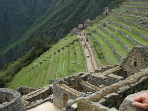 Terrassen bij Machu Picchu