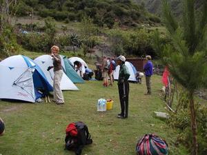 Kamperen tijdens de Inca Trail