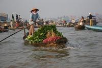 Mekong drijvende markt Vietnam Djoser