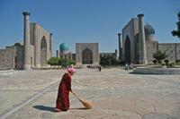 Iran Turkmenistan Oezbekistan Samarkand plein drie medressen Djoser