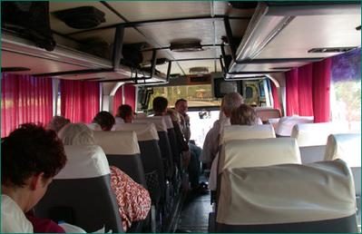 Binnenkant bus Thailand Djoser