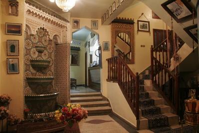 Marokko djoser hotel lobby accommodatie