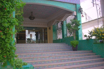 Ontvangst hotel Djsoser Marokko accommodatie