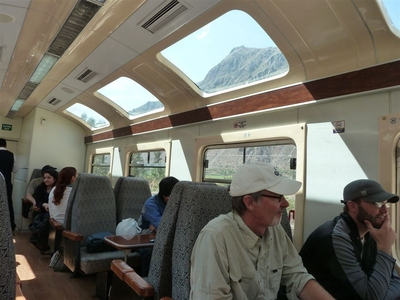 Peru trein binnenkant Djoser