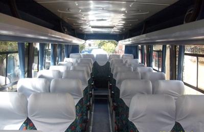 Peru Ecuador galapagos binnenkant bus vervoersmiddel rondreis Djoser