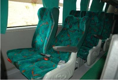 Colombia bus vervoersmidddel binnenkant Djoser