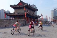 Fietsen Stadsmuur Xi'an China Groepsreis Junior
