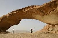 Jordanie Wadi Rum Woestijn rotsformaties zandsteen Djoser
