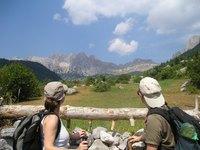 Albanië wandelen mensen