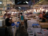 Tsukiji vismarkt Tokyo Japan