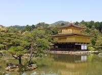 Kinkakuji tempel Kyoto Japan uitgesneden