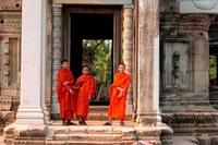 Monniken Ankor Wat Cambodja