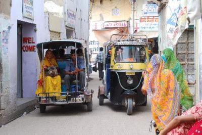 India, Nepal en Rajasthan riksha vervoersmiddel Djoser