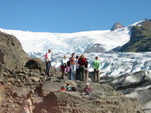 Worthington glacier walking tour ice alaska