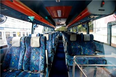 India, Nepal en Rajasthan binnenkant bus vervoersmiddel Djoser
