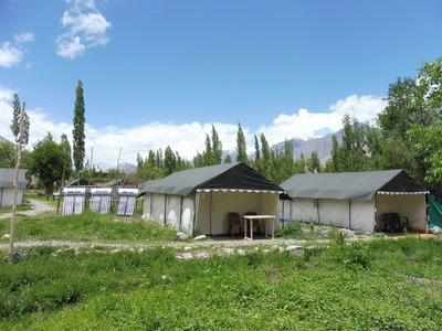 India en Ladakh tented camps overnachting accommodatie Djoser