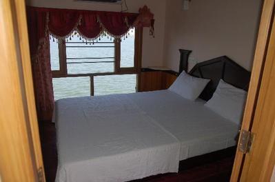 Rijstboot kamer Backwaters Zuid-India Djoser