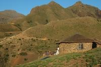 Zuid Afrika Lesotho landschap Djoser