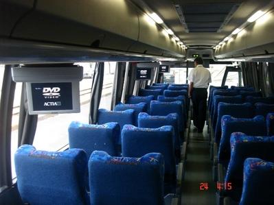 Mexico en guatamala rondreis binnenkant bus Djoser