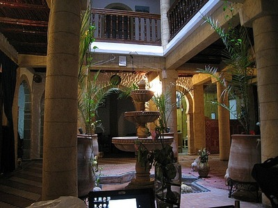 Marokko hotel lobby Djoser