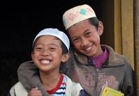 Twee Moslim jongetjes Indonesië