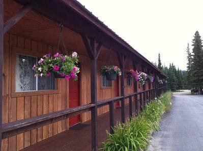 White Moose Lodge Healy buitenkant Alaska accomodatie Djoser