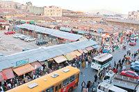 Mercato Addis Abeba Ethiopië