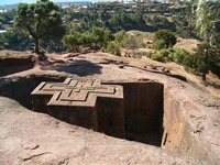 Etiopië lalibela kerk