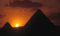Piramide Gizeh Egypte zonsondergang Djoser