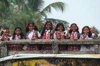 Schoolmeisjes Zuid-India Djoser