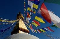 Tibet tempel vlaggen Djoser