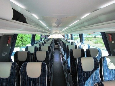 Bus binnenkant Spanje Andalusië Djoser